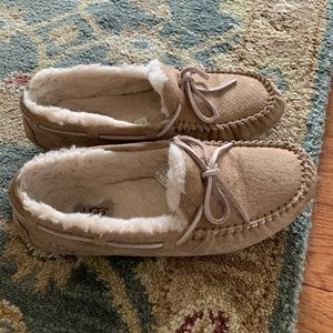 Light pink and Tan Ugg Slippers